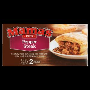 Mama's Pies Frozen Pepper Steak Pie 2 Pack