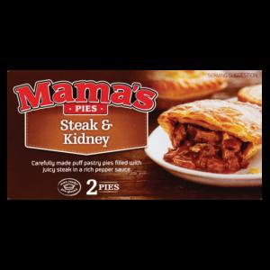 Mama's Pies Frozen Steak & Kidney Pie 2 Pack