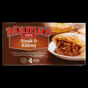 Mama's Pies Frozen Steak & Kidney Pies 4 Pack