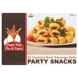 Penny Wise Frozen Cocktail Beef Sausage Rolls Party Snacks 30 Pack