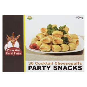 Penny Wise Frozen Cocktail Cheesepuffs Party Snacks 30 Pack
