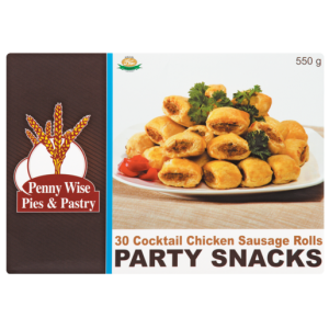 Penny Wise Frozen Cocktail Chicken Sausage Rolls Party Snacks 30 Pack