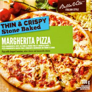 Bella Vita Frozen Ham & Pineapple Pizza 350g