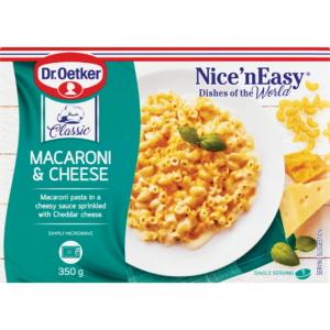 Dr. Oetker Nice 'N Easy Frozen Macaroni & Cheese Ready Meal 350g