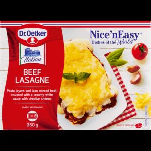 Dr. Oetker Nice 'N Frozen Easy Beef Lasagne Ready Meal 350g