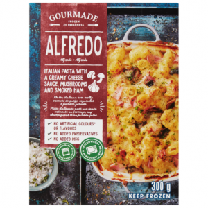 Gourmade Frozen Alfredo Ready Meal 300g