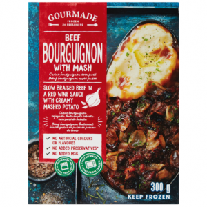Gourmade Frozen Beef Bourguignon With Mash Ready Meal 300g