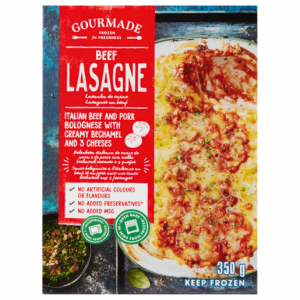 Gourmade Frozen Beef Lasagne Ready Meal 350g