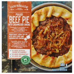 Gourmade Frozen Pulled Beef With Caramelised Onion Pie 580g
