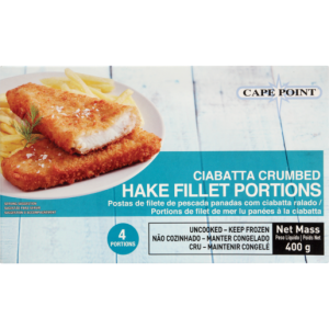 Cape Point Ciabatta Crumbed Hake Portions 400g