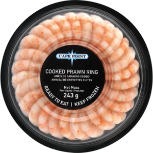 Cape Point Frozen Cooked Prawn Ring 243g
