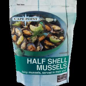 Cape Point Frozen Half Shell Mussel 400g