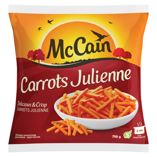 McCain Frozen Carrots Julienne 750g