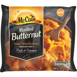McCain Frozen Mashed Butternut With A Pinch Of Cinnamon 500g