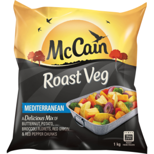 McCain Frozen Roast Mediterranean Vegetables 1kg