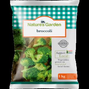 Natures Garden Frozen Broccoli Florets 1kg