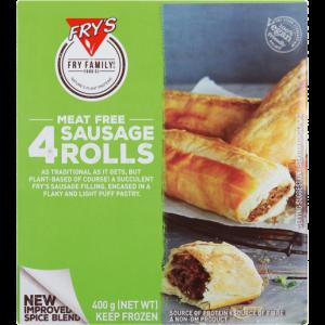 Fry's Frozen Meat Free Sausage Rolls 400g