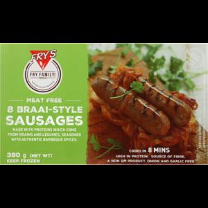 Fry's Frozen Meat Free Vegetarian Braai Sausages 380g