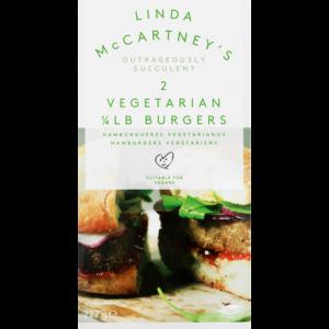 Linda McCartney's 2 Quarter Pound Frozen Vegetarian Burgers 227g