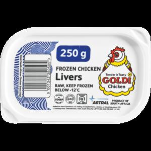Goldi Chicken Frozen Chicken Livers 250g