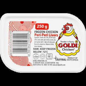 Goldi Chicken Frozen Chicken Peri-Peri Livers 250g