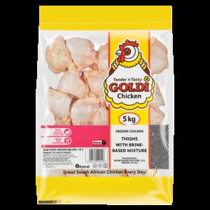 Goldi With Brine Mixture Chicken Thighs 5kg