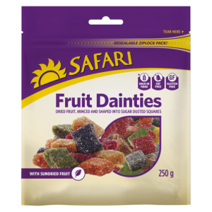 Safari Dried Fruit Dainties 250g