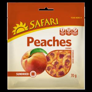 Safari Dried Peach Chunks 70g