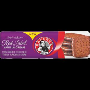 Bakers Red Label Vanilla Cream Tennis Biscuits 200g