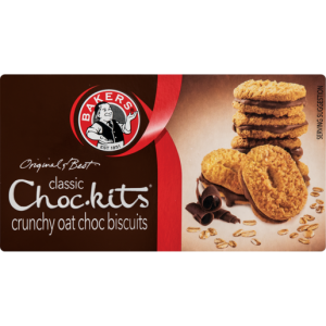 Bakers Classic Choc-kits Oat Chocolate Biscuits 200g