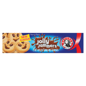 Bakers Jolly Jammers Choc Cream Flavoured Biscuits 200g