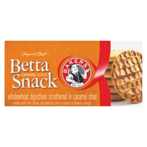 Bakers Betta Snack Caramel Choc Flavoured Biscuits 200g