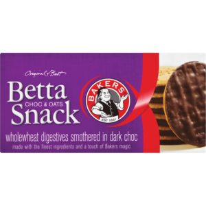 Bakers Bettasnack Chocolate & Oats Biscuits 200g