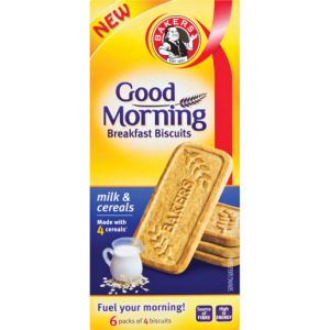 Bakers Good Morning Milk & Cereal Breakfast Biscuits 300g