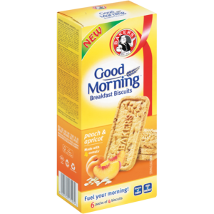 Bakers Good Morning Peach & Apricot Breakfast Biscuits 300g