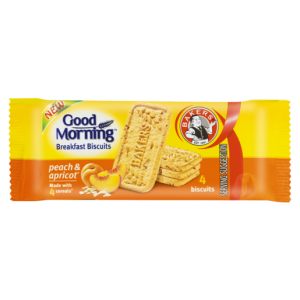 Bakers Good Morning Peach & Apricot Breakfast Biscuits 50g
