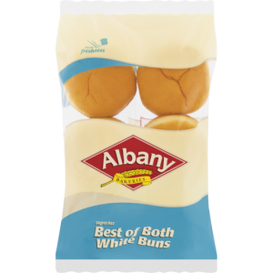 Albany Best Of Both White Buns 6 Pack