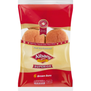 Albany Superior Brown Buns 6 Pack