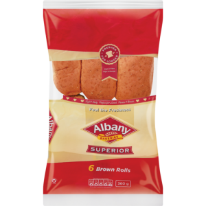 Albany Superior Brown Rolls 6 Pack